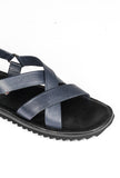 Casual Leather Sandals for Men-Navy - Sandals - Pavers England