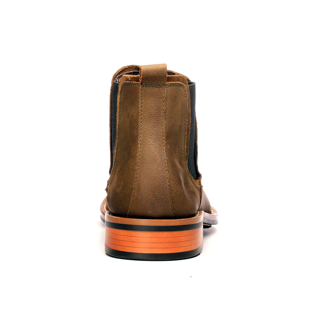 Plain-Toe Chelsea Boots for Men - Green - Boots - Pavers England