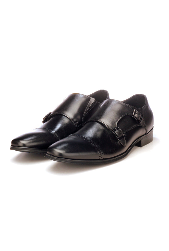 Men's Monk Shoe - Black - Formal Loafers - Pavers England