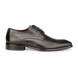 Men's Formal Derby Shoes - Black - Laced Shoes - Pavers England