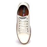 Textured Lace-ups for Men - White - Sneakers - Pavers England