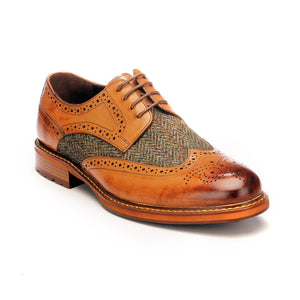 Men's Brogue Shoe-Tan