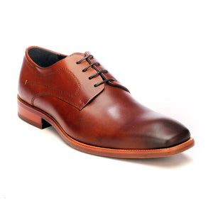 Men's Formal Derby Shoes - Tan - Laced Shoes - Pavers England