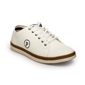 Textured Lace-ups for Men-White - Sneakers - Pavers England