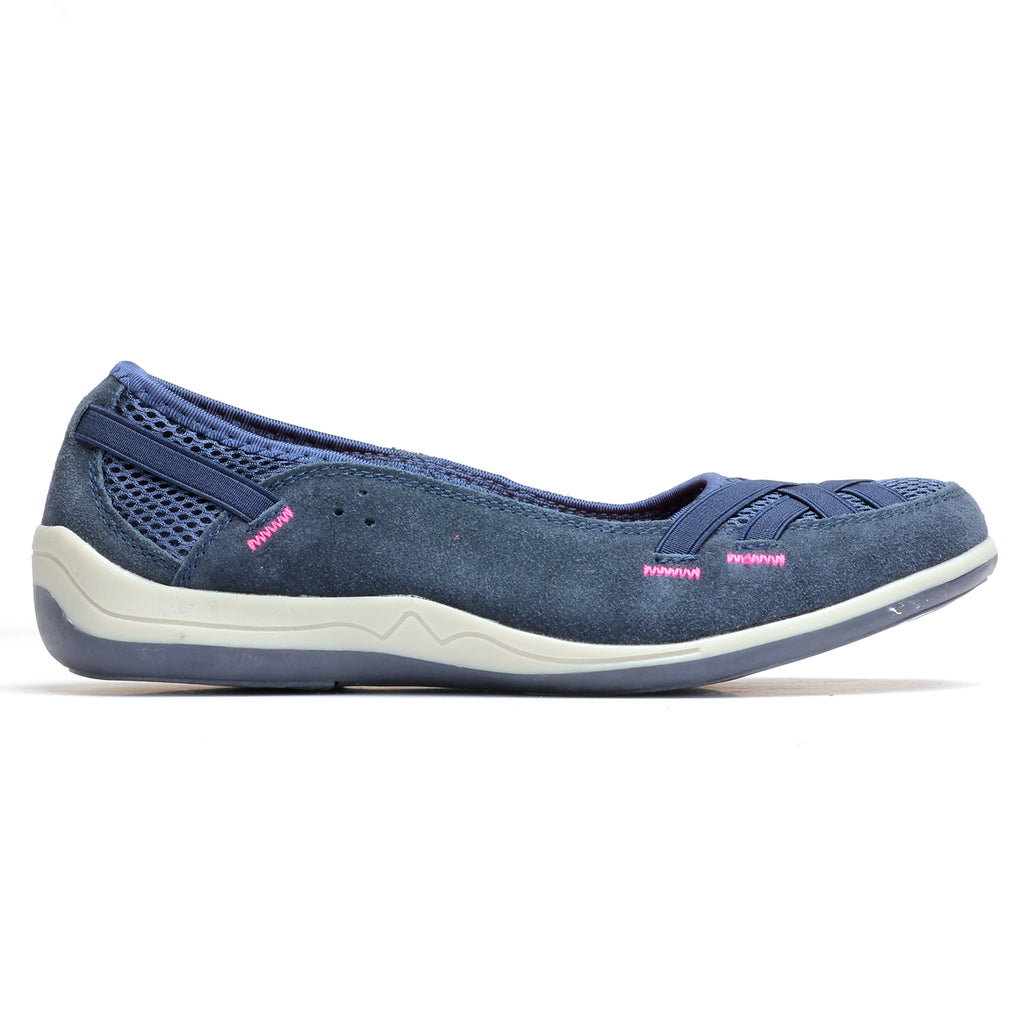Suede Loafers for Women - Navy - Full Shoes - Pavers England