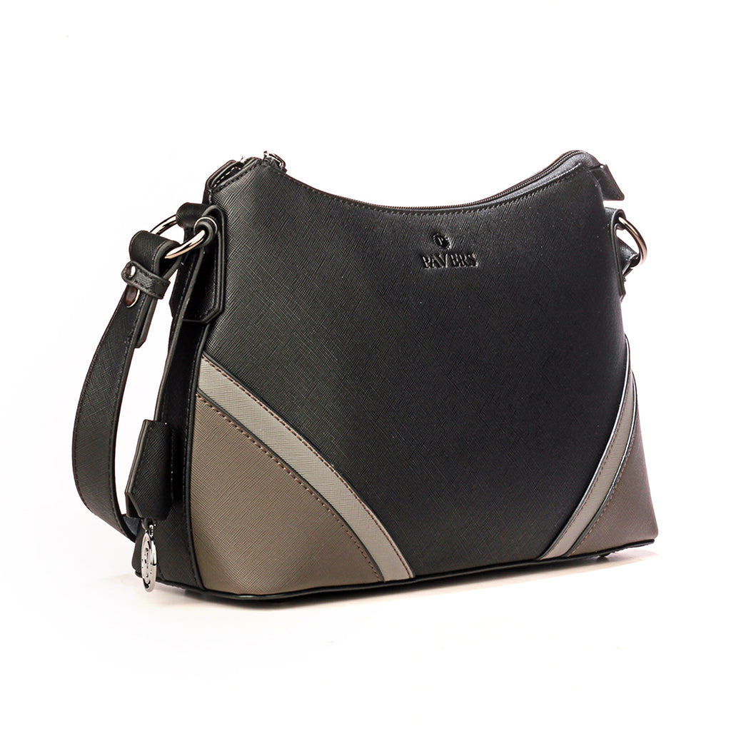 Black Checkered Style Hobo for Women - Bags & Accessories - Pavers England