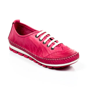 Women's Lace-up - Pink - Sneakers - Pavers England