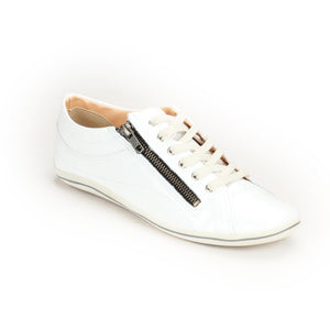 Women's Lace-up-White Patent - Sneakers - Pavers England
