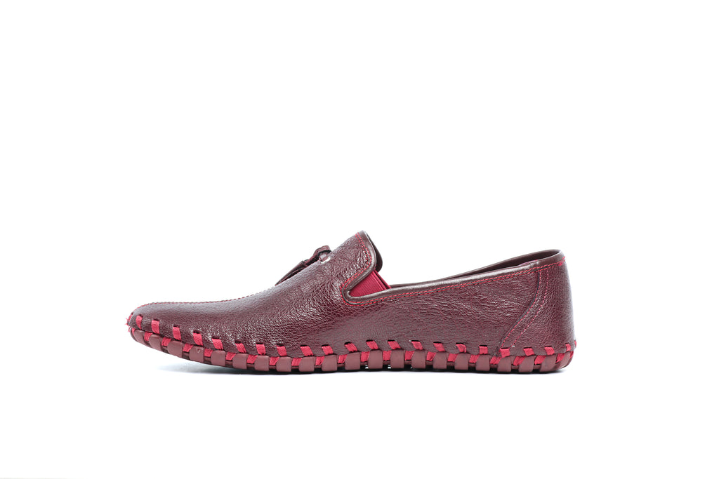 Men's Loafers - Burgundy - Smart Casuals - Pavers England