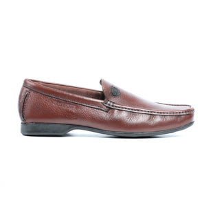 Split Toe Leather Slip-on Shoe-Brown - Slip ons - Pavers England