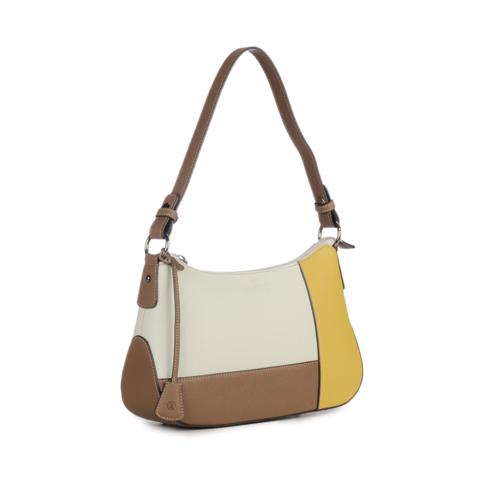 Multicoloured Hobo Bag for Women-Beige Multi - Bags & Accessories - Pavers England