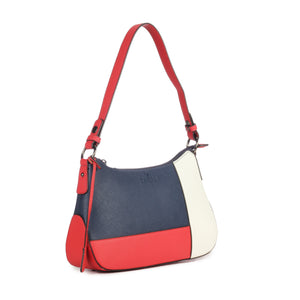 Multicoloured Hobo Bag for Women-Navy - Bags & Accessories - Pavers England