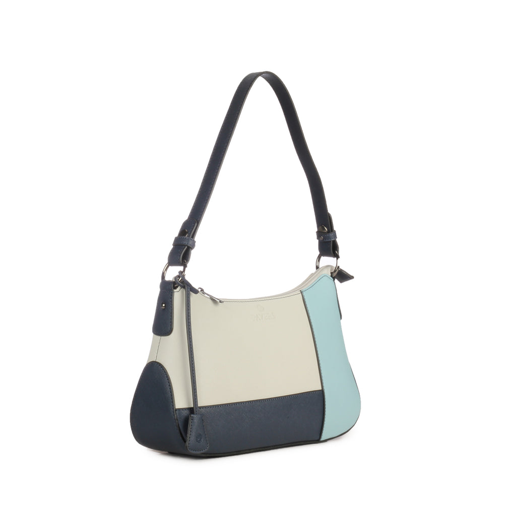 Multicoloured Hobo Bag for Women-Blue Multi - Bags & Accessories - Pavers England