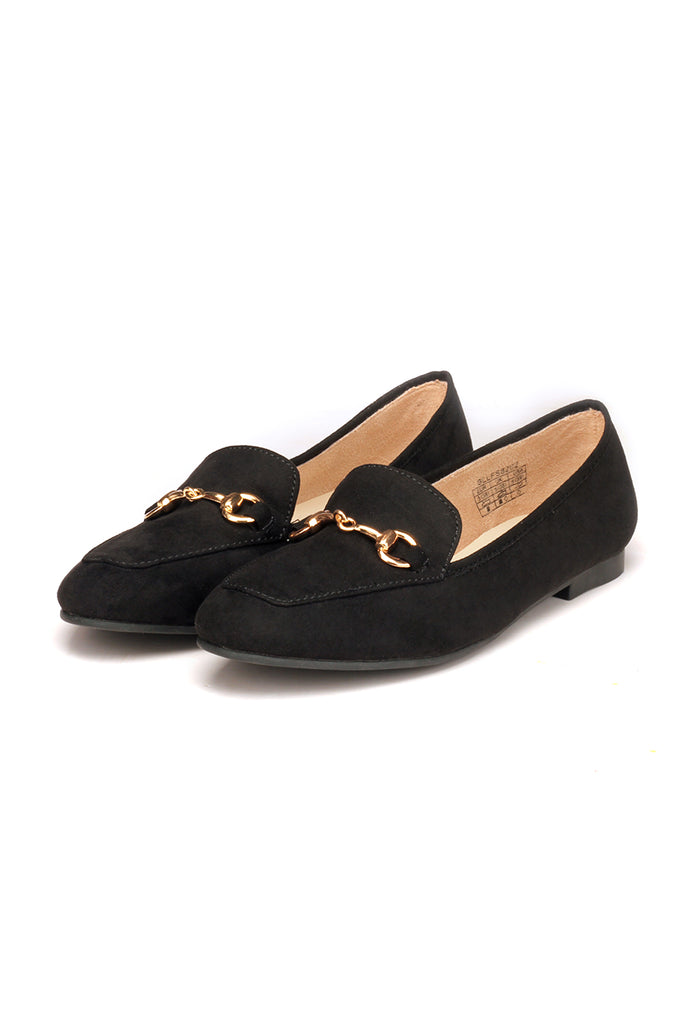 Textile Loafers with Low heels for Women - Black - Pumps - Pavers England