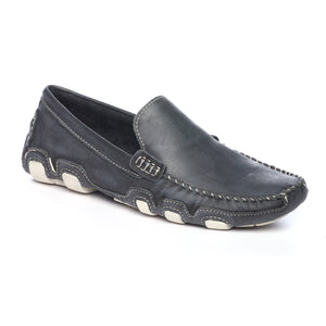 Men's Loafers-Navy - Slip ons - Pavers England