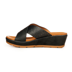 Casual/ Formal Mule Wedges for Women - Casual - Pavers England