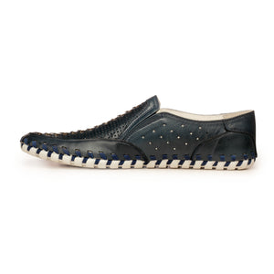 Leather Moccasins For Men - Slipon - Pavers England