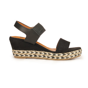 Stylish High Heel Wedges for Women - Black - Sandals - Pavers England