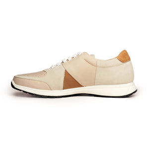 Leather Sneakers For Men - Laceup - Pavers England