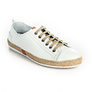 Leather Sneaker for Women-White