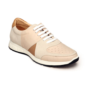 Leather Sneakers For Men - Grey - Sneakers - Pavers England
