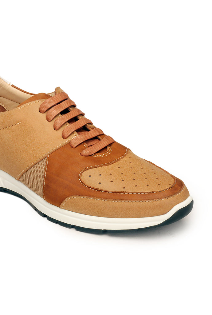 Leather Sneakers For Men - Tan - Sneakers - Pavers England