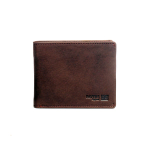 Brown Two-Fold Leather Card Holder/Wallet For Men - Wallets - Pavers England