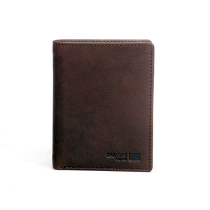 Brown Vertical Two-Fold Waterproof Leather Wallet For Men - Wallets - Pavers England