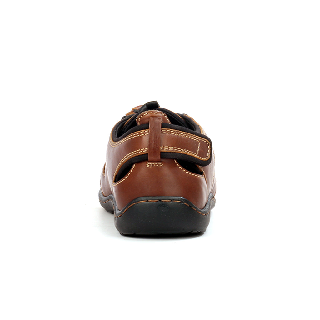 Men's lace-up leather sandals - Brown - Sandals - Pavers England