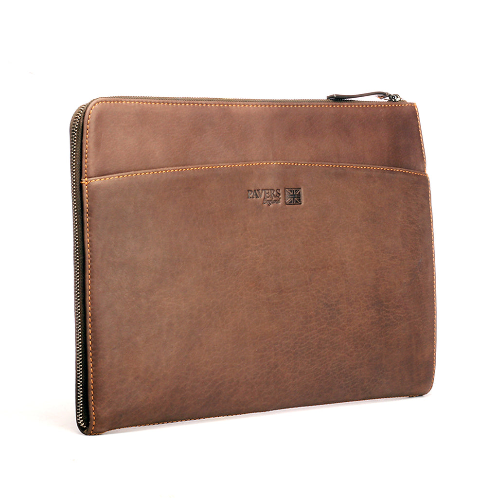 15 inch Leather Laptop Sleeve - Bags - Pavers England