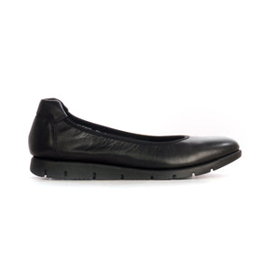 Leather Ballerinas for Women for Casual / Work wear - Black - Full Shoes - Pavers England