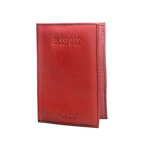 Leather Passport Cover Ladies-Pink - Wallets - Pavers England