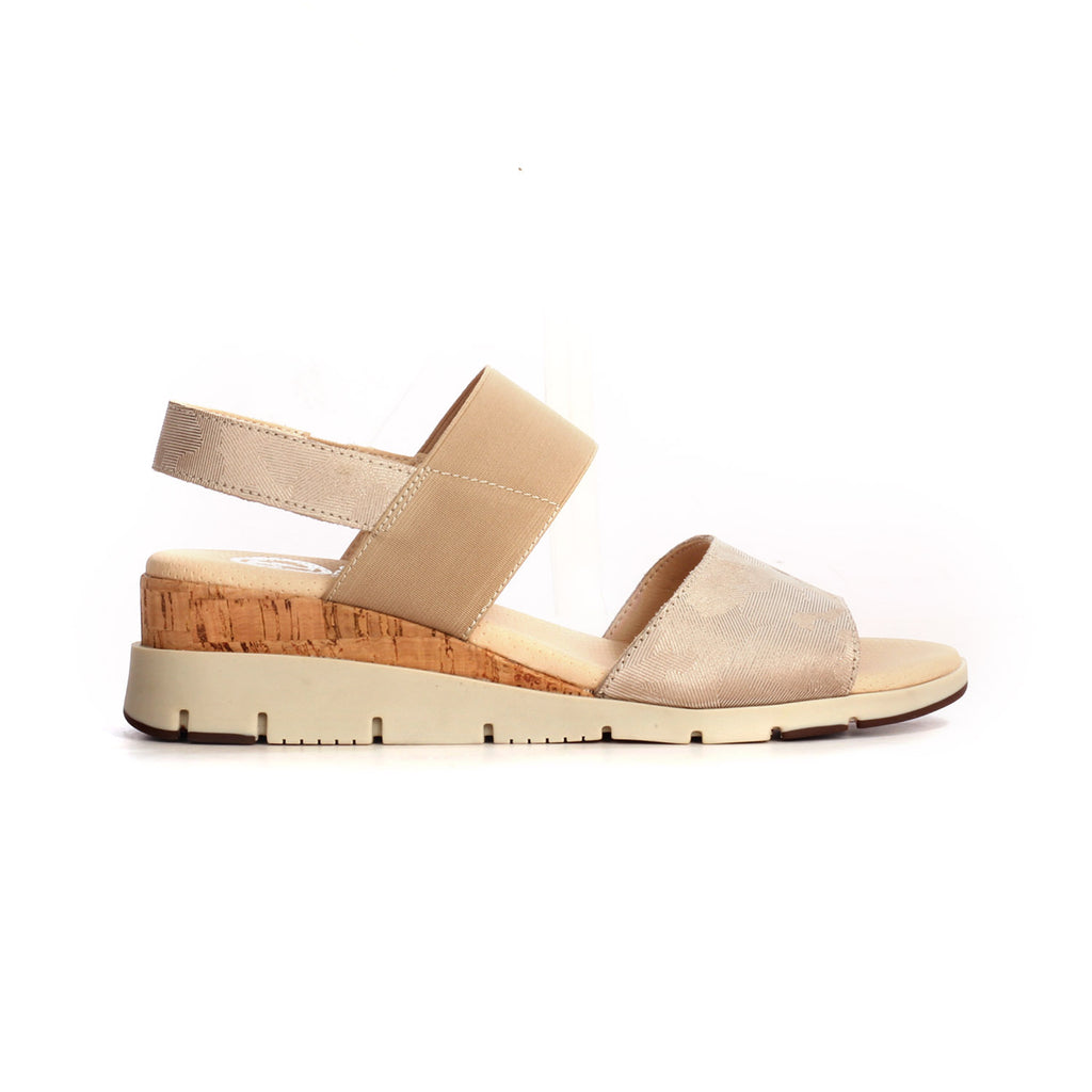 Leather Sandals with Medium Wedge Heel for Women - Sandal - Pavers England