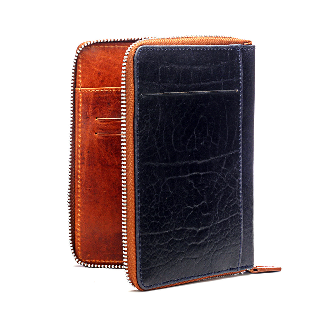 Textured Passport Wallet - Navy - Bags & Accessories - Pavers England