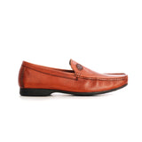 Split Toe Leather Slip-on Shoe - Tan - Formal Loafers - Pavers England