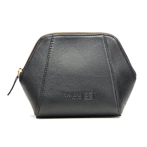 Stylish Black Leather Soft-Finish Makeup Kit for Women-Black - Pouches - Pavers England