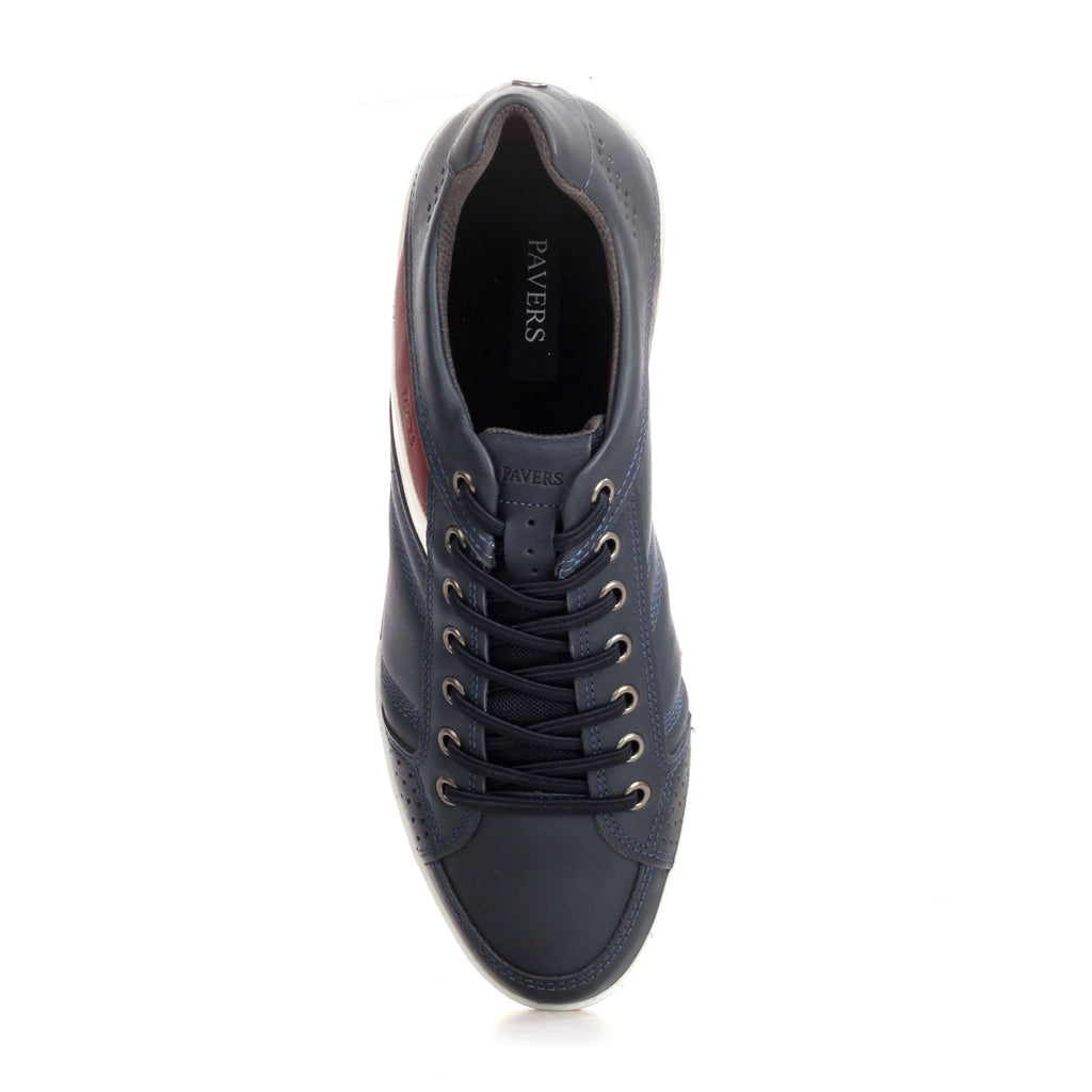 Casual Leather Sneakers For Men - Navy - Sneakers - Pavers England