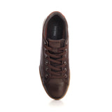 Low Top Leather Sneakers For Men - Brown - Sneakers - Pavers England