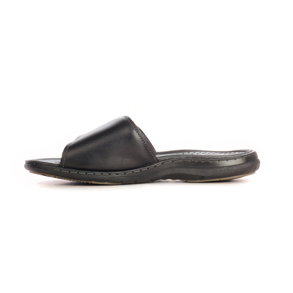 Casual Mules For Men - Black - Open Toe - Pavers England