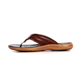 Leather Toe Post Sandals For Men - Brown - Open Toe - Pavers England