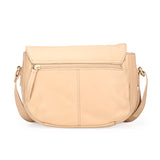 Leather Sling Bag with Tassels for Women-Beige - Bags & Accessories - Pavers England