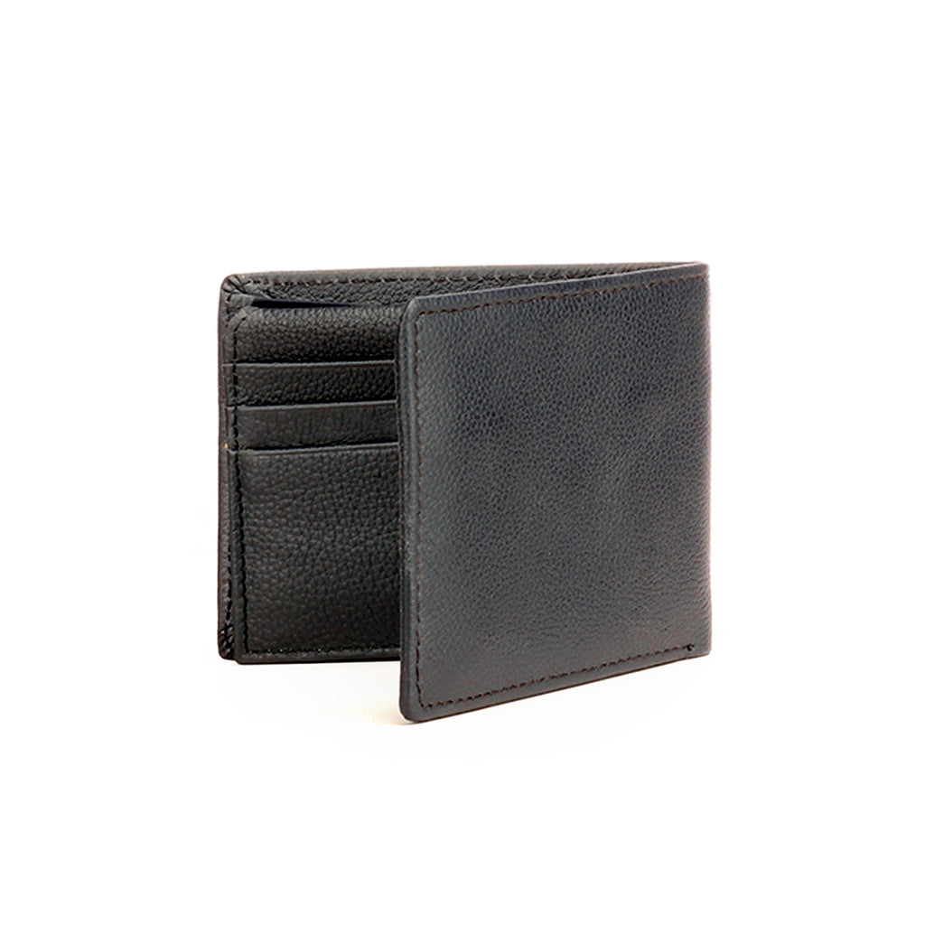 Formal/Casual Leather Wallet For Men - Black - Bags & Accessories - Pavers England