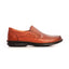 Leather men's slip-on shoes with low heel