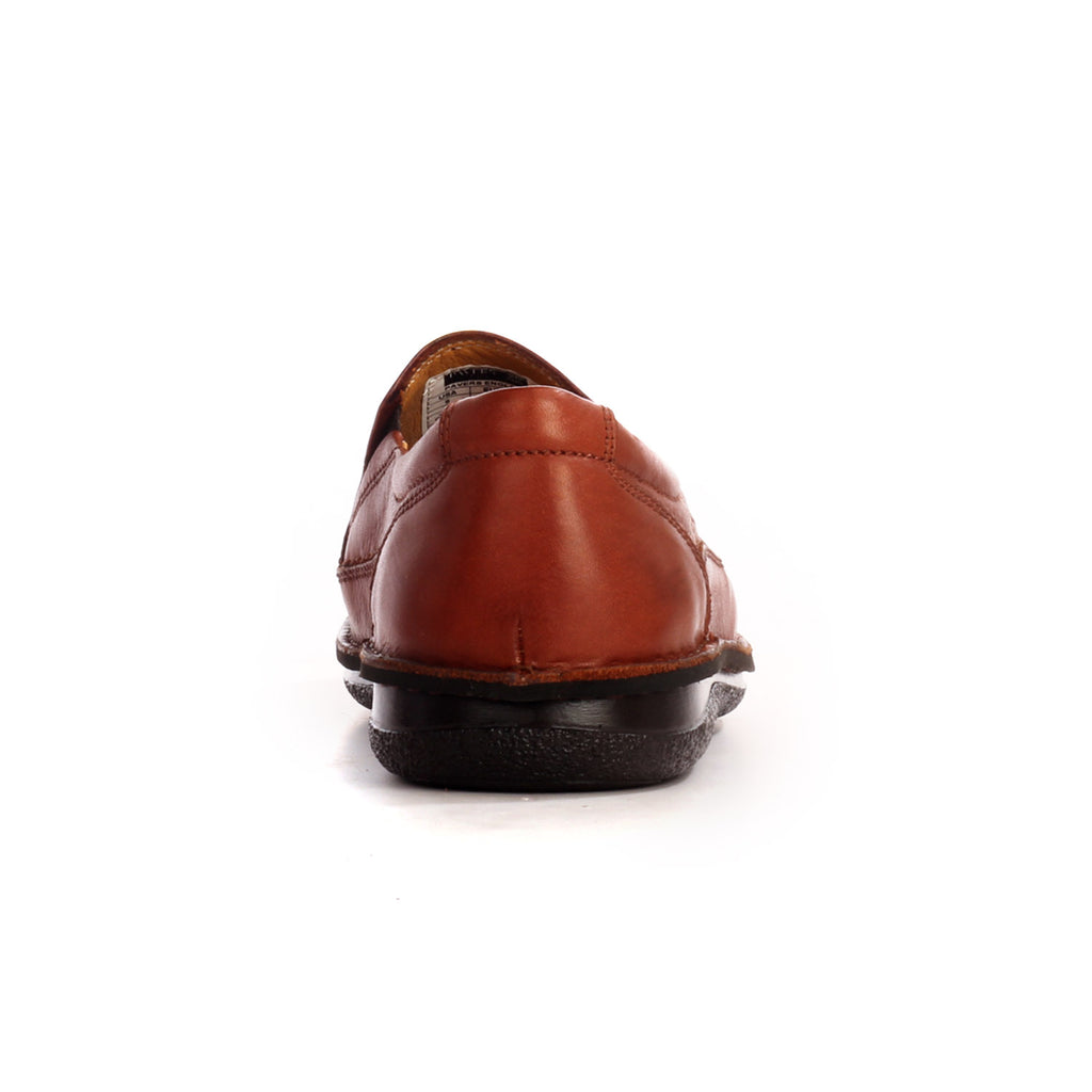 Leather men's slip-on shoes with low heel - Brown - Smart Casuals - Pavers England