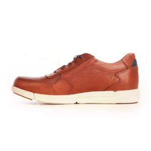 Leather textured lace-up shoes for men-Brown - Sneakers - Pavers England