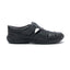 Men's Leather Sandals for Casual Wear - Black
