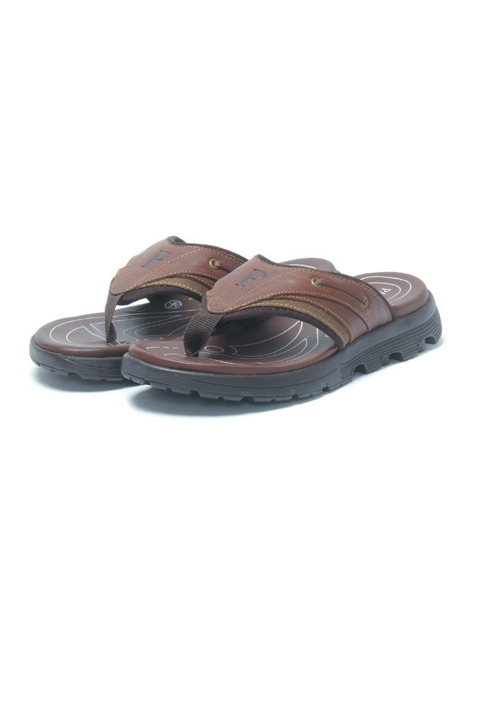Men's Flipflop Sandals for Casual Wear - Brown - Open Toe - Pavers England