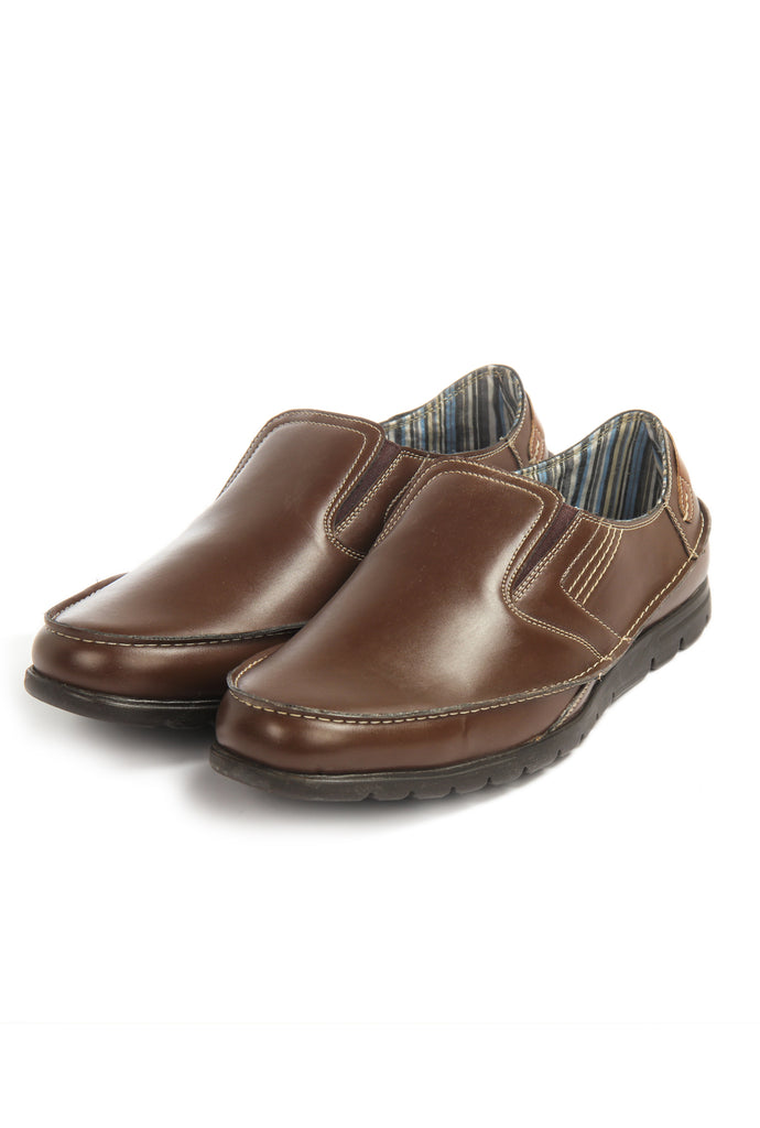 Men's Shoe - Brown - Comfort Fits - Pavers England