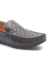Men's Textured Loafers for Casual Wear - Brown - Moccasins - Pavers England