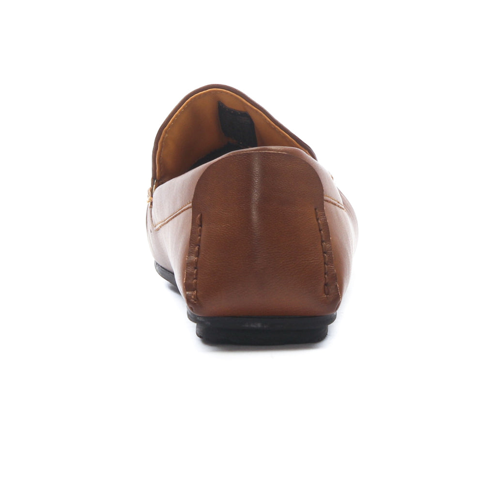 Men's Textured Loafers for Casual Wear - Tan - Moccasins - Pavers England